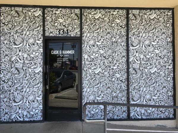 Full vinyl window wraps for restaurants in Orange County CA
