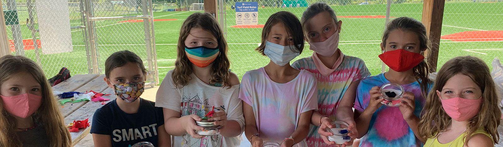 Girls having fun at Hyman Brand Hebrew Academy