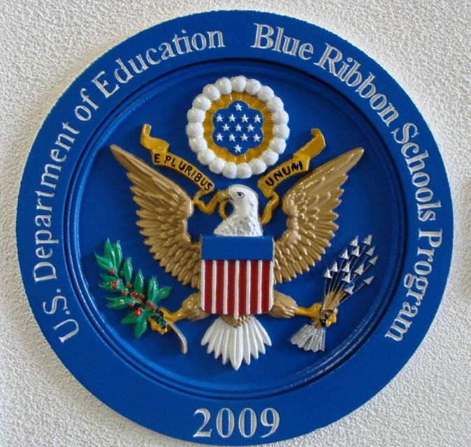 FA15751 - Dept of Education Award Plaque for Blue Ribbon School