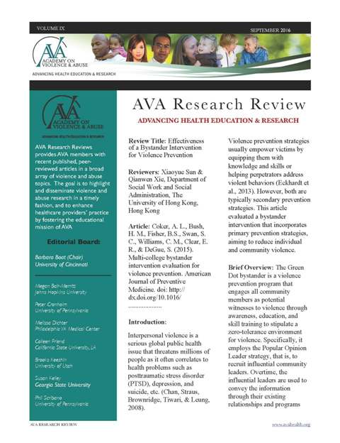 September Research Review