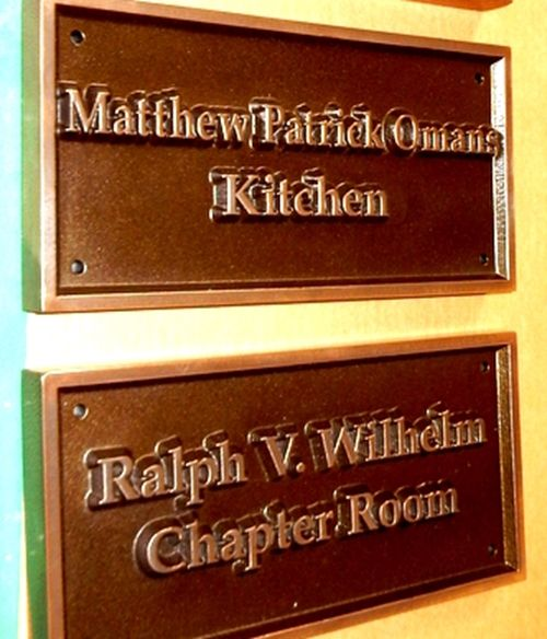 SP-1660 - Donor's Plaque for Common Rooms in Fraternity House, Bronze Plated