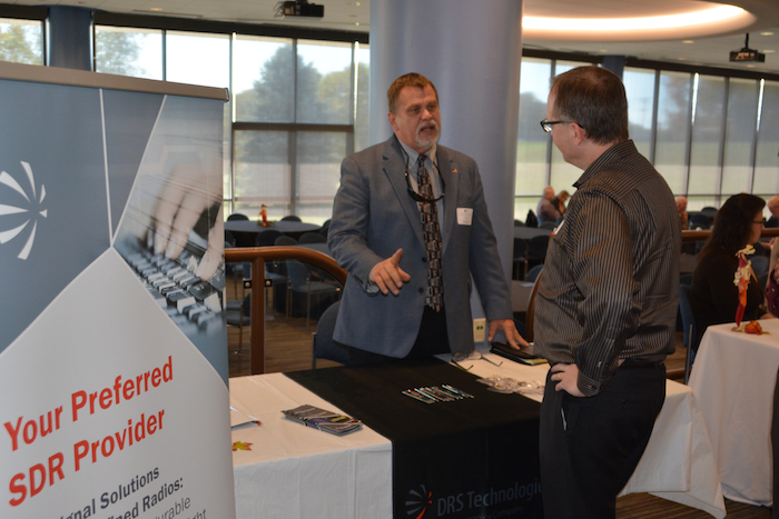 Ed Kutney from DRS Technologies, Inc. talking with NCMF Kevin Crouse.