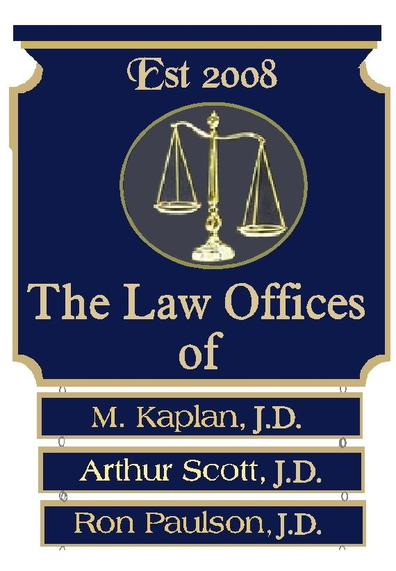 A10686 - Elegant Carved Wood Law Office Directory Sign