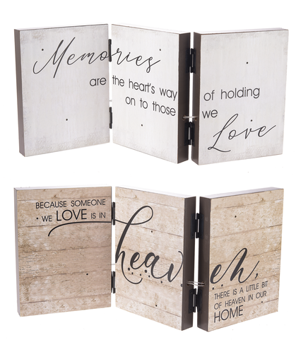 Light Up Accordion Sign - Memories are the heart's way of holding on to those we Love