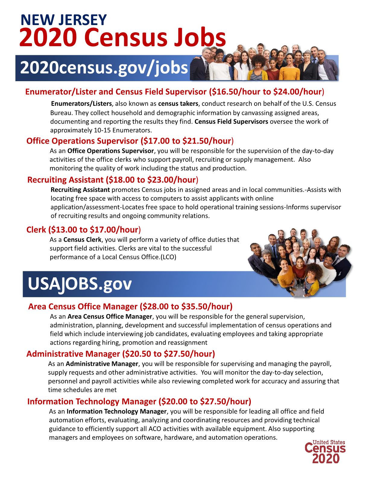 New Jersey 2020 Census Jobs