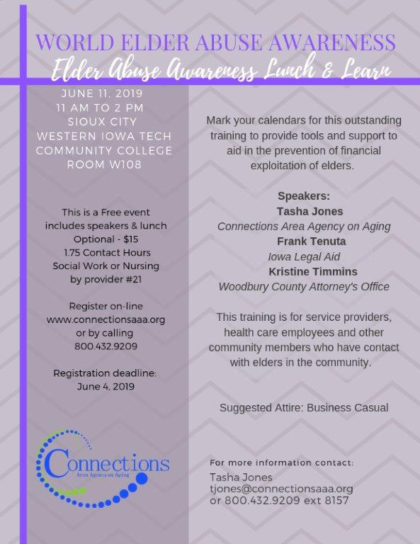 Sioux City: World Elder Abuse Awareness Day Lunch and Learn