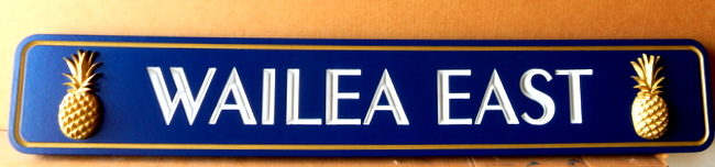 "Q21877 -  Quarterboard Sign ""Wailea East"" for a Hawaiian Coastal Residence"