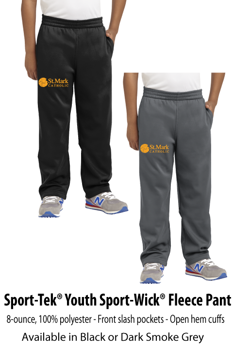 Embroidered - Performance Fleece Pant - Youth