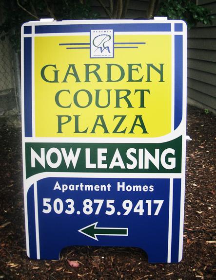 Garden Court Plaza A-board