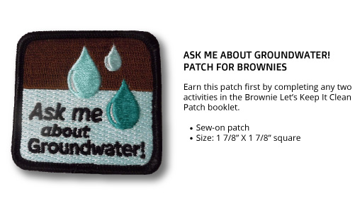 """Brownie """"Ask Me About Groundwater"""" Patch"""