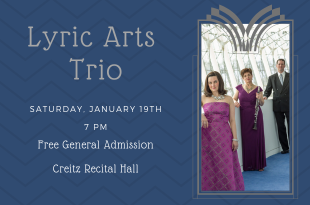 Lyric Arts Trio to Perform