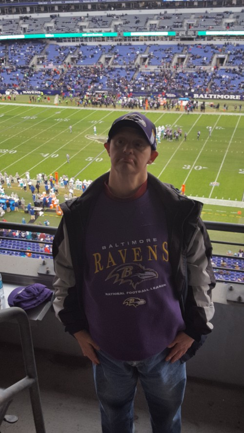 Enjoying the Ravens Game!