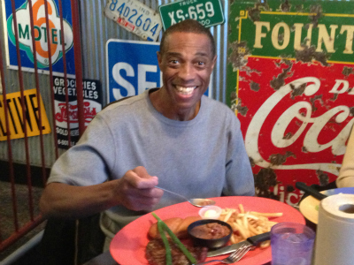 Andrew Johnson's first meal as a free man - 24 years in the making