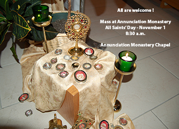 All Saints' Day Mass - Nov. 1 - 8:30 a.m.