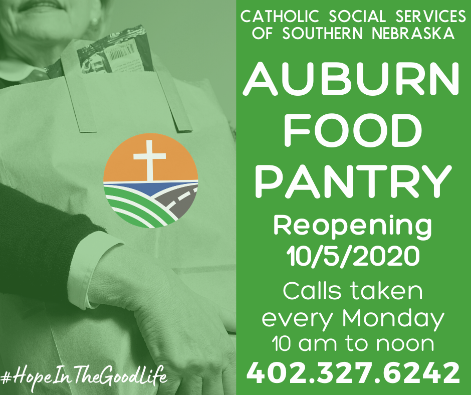 IMPORTANT UPDATE! CSS will be providing food pantries out of our Auburn offices beginning the week of October 5th. To request a food pantry or emergency services assistance, call 402.327.6242 on Mondays between 10 am and noon.