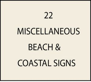 L21921 - Miscellaneous Beach and Seashore Signs