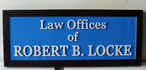 A10220 - Carved and Sandblasted High-Density-Urethane (HDU)  Law Office Sign