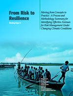 From Risk to Resilience #8: Moving from Concepts to Practice: A Process and Methodology Summary for Identifying Effective Avenues for Risk Management Under Changing Climatic Condition