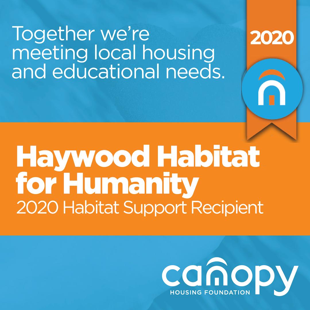 Canopy REALTOR Association's Canopy Housing Foundation awards funding to Haywood Habitat