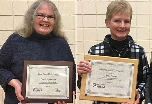 Carol Segerstrom, Shelly Savoy receive Tom Thornblade Award