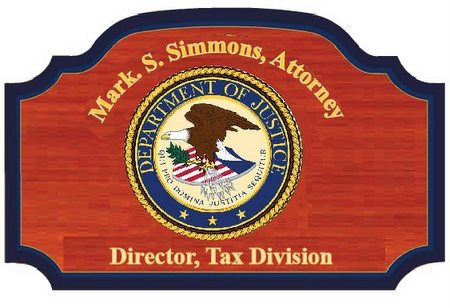U30191 - Department of Justice (DOJ) Personalized Carved Wall Plaque