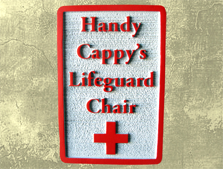L22155 - Carved Personalized Lifeguard Chair Sign