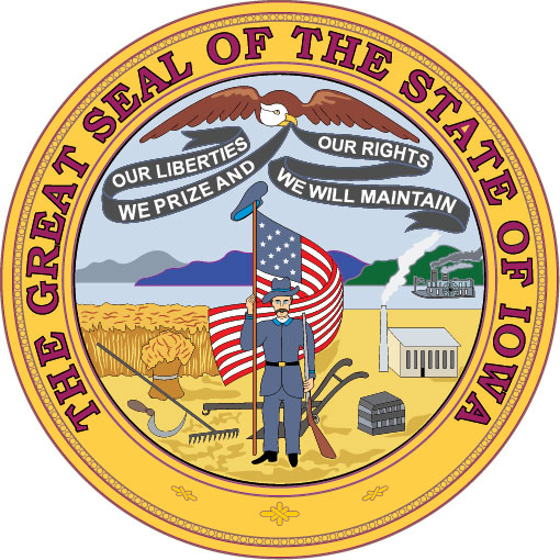 W32200 - Seal of the State of Iowa Wall Plaque