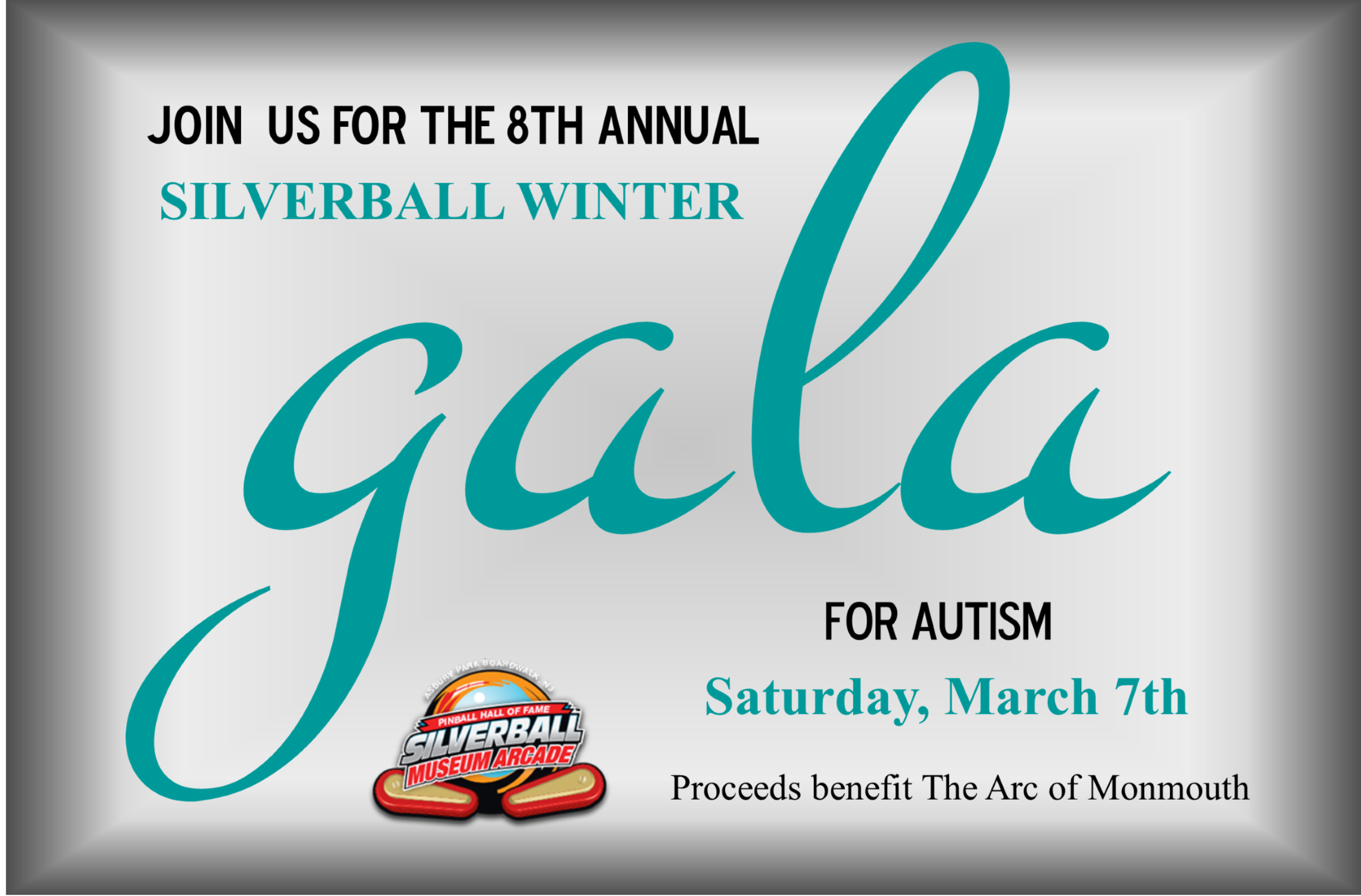 Silverball Gala is March 7th
