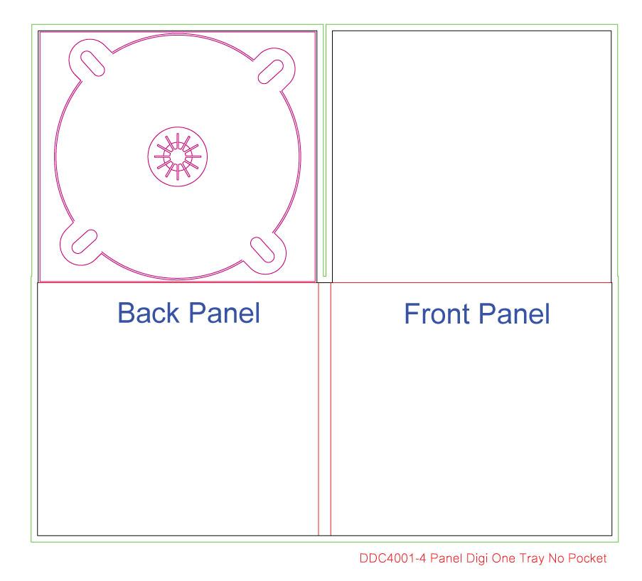 DDC4001 4 Panel Digi 1 Tray, No Pocket