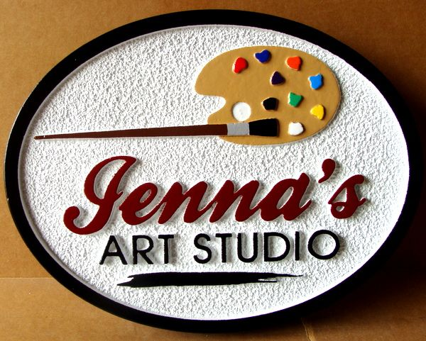 SA28321 - Sign for Art Studio with Painter's Pallet