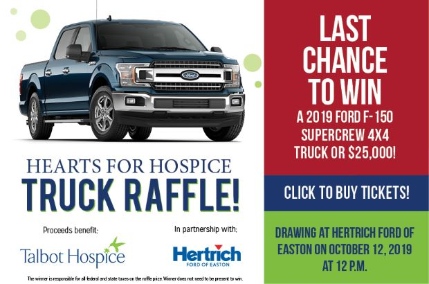 Hearts for Hospice Truck Raffle