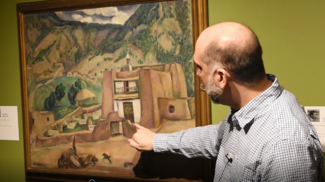 "Curator Chat - Paul Burlin's ""Adobe Church (Las Trampas)"""