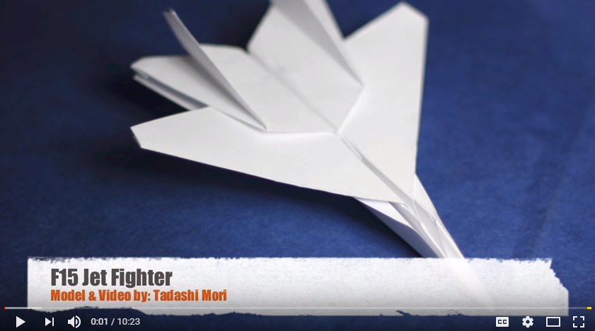 Origami - F15 Jet Fighter Plane