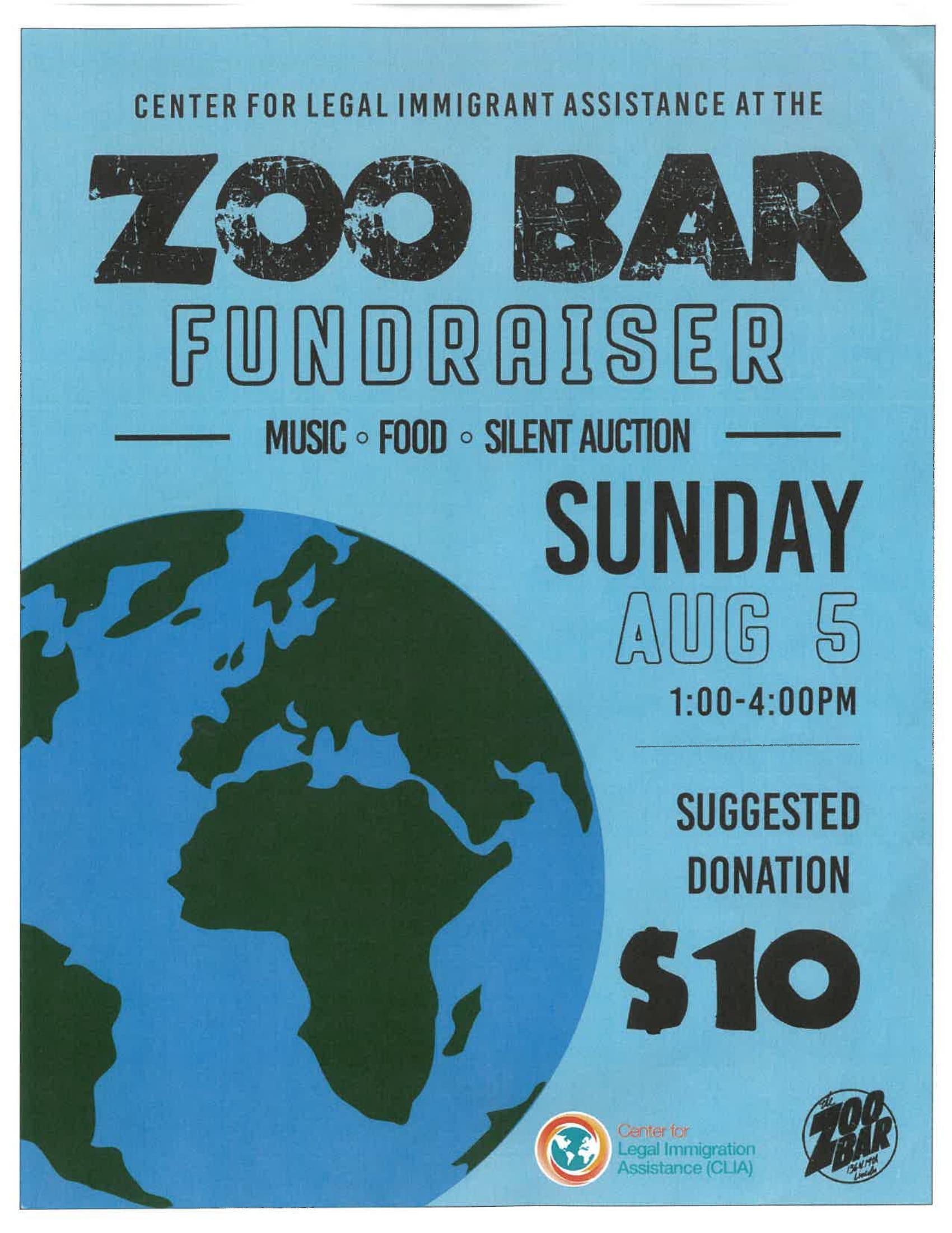 August 5th Zoo Bar FUNdraiser