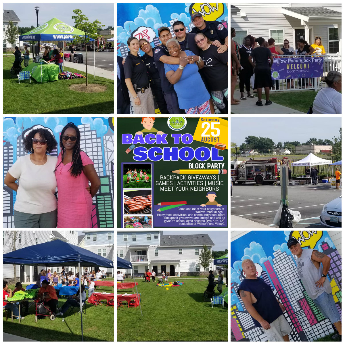 Willow Pond Village Back to School Block Party- August 2018