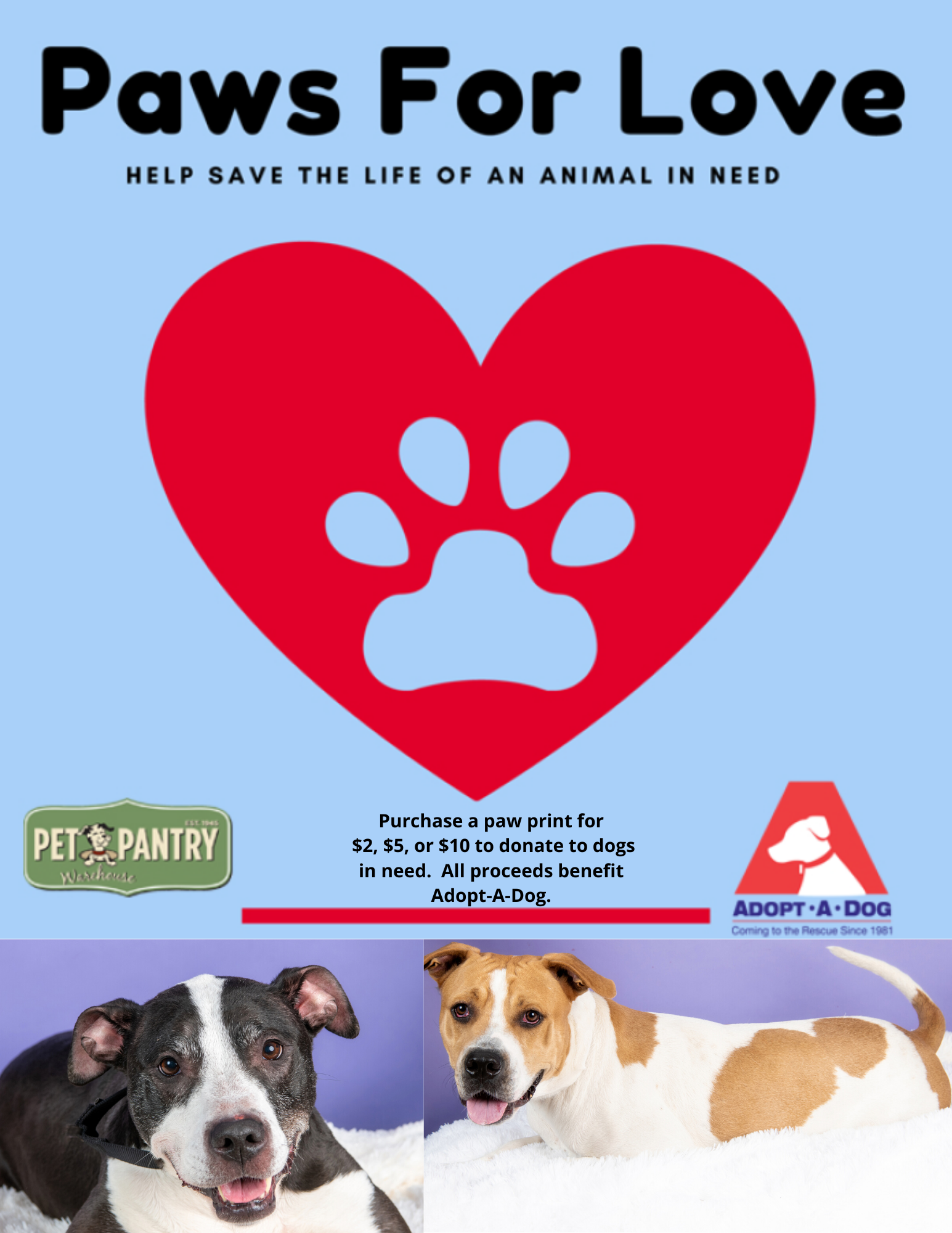 Paws For Love Kickoff Event at Pet Pantry Warehouse Rye