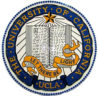 RP-1280 - Carved Wall Plaque of  the Seal of UCLA, Artist Painted