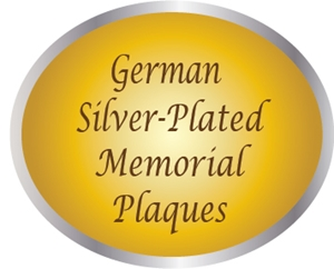 ZP-3000 - Carved Memorial and Commemorative Wall Plaques, Painted Metallic Silver
