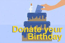 Donate your Birthday on FACEBOOK
