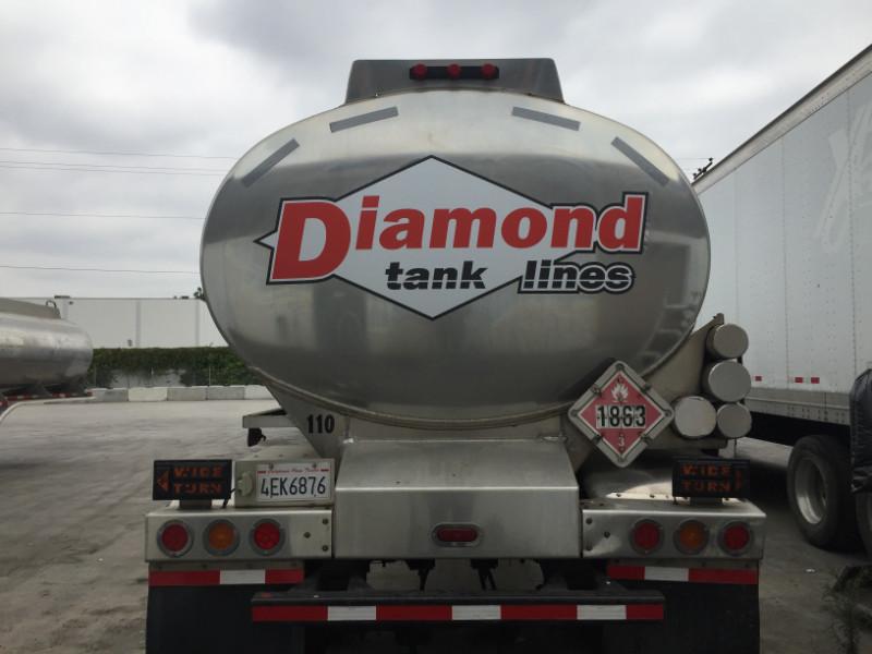 Fleet Tanker Truck Vinyl Decals Los Angeles County CA