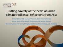 Putting Poverty at the Heart of Urban Climate Resilience