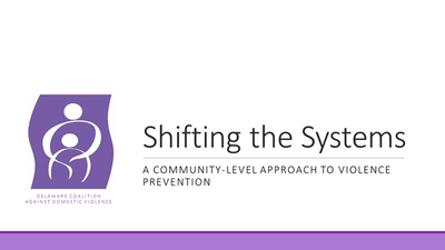Shifting the Systems: A Community-Level Approach to Prevention
