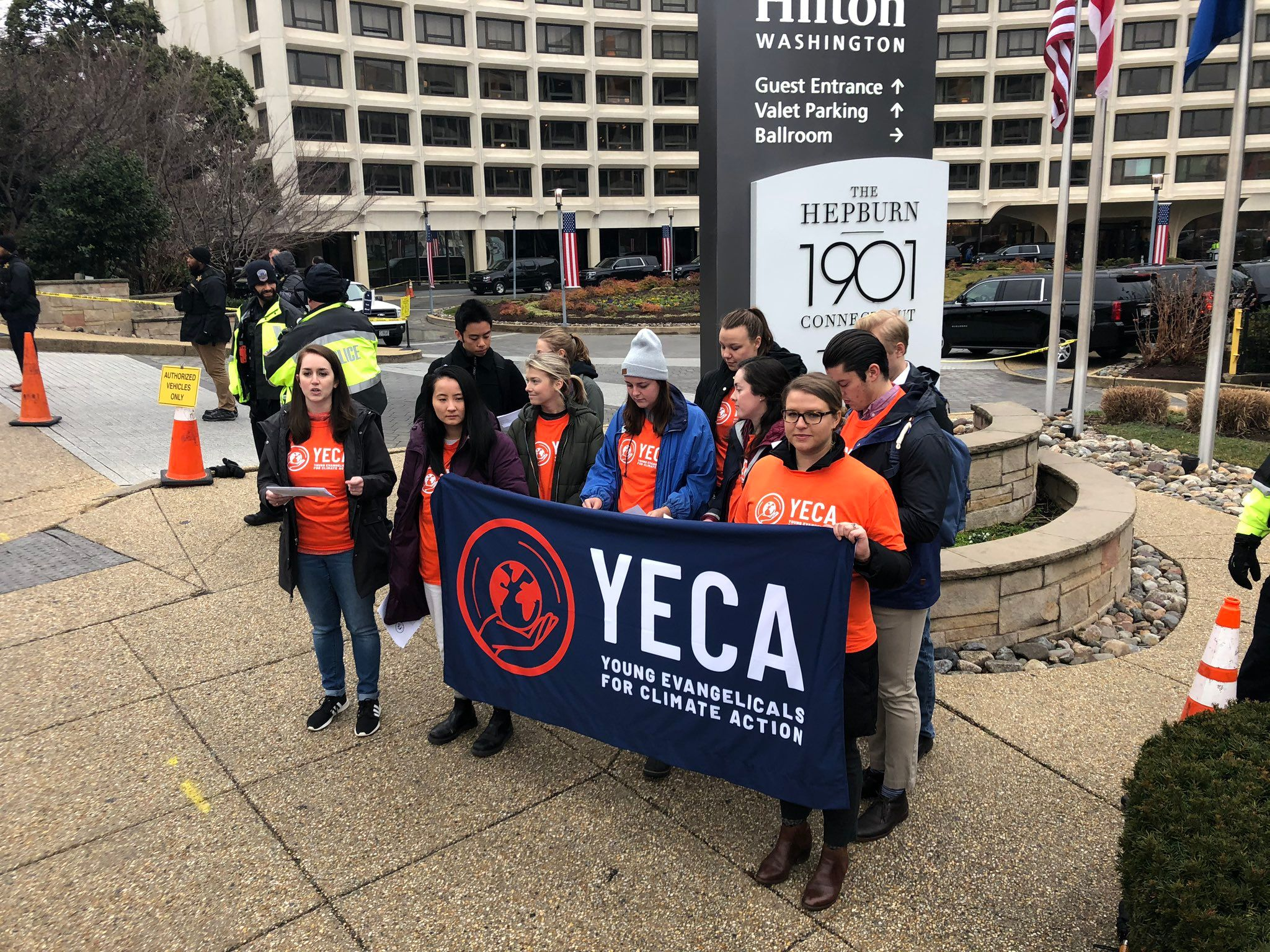 YECA Demonstrates for Climate Action at National Prayer Breakfast