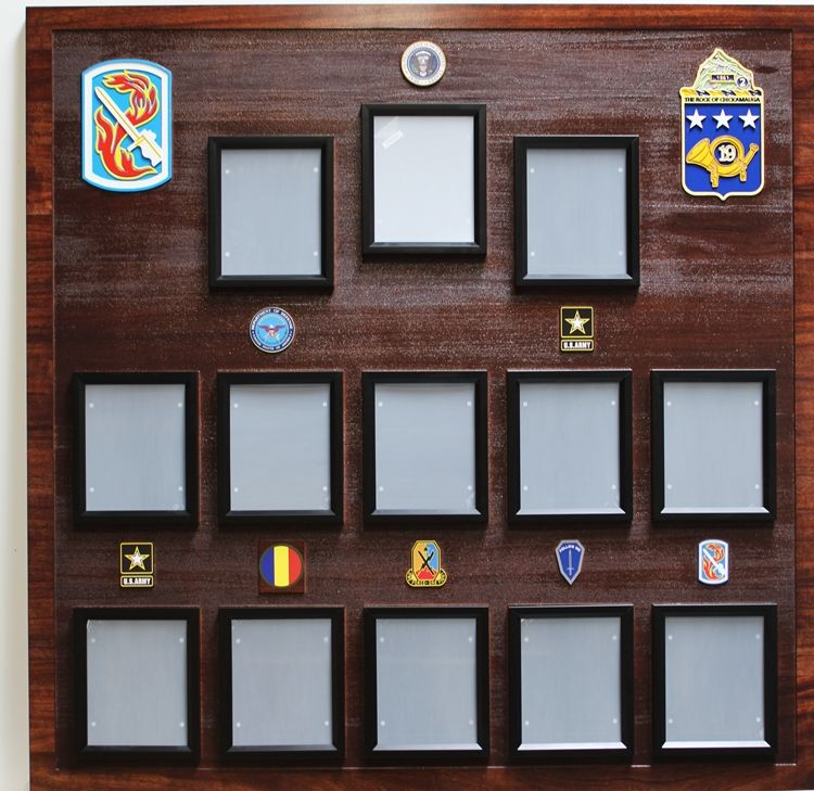 MP-3012 - Carved Mahogany Chain of Command Board at Fort Eustis for  US Army Training and Doctrine Command