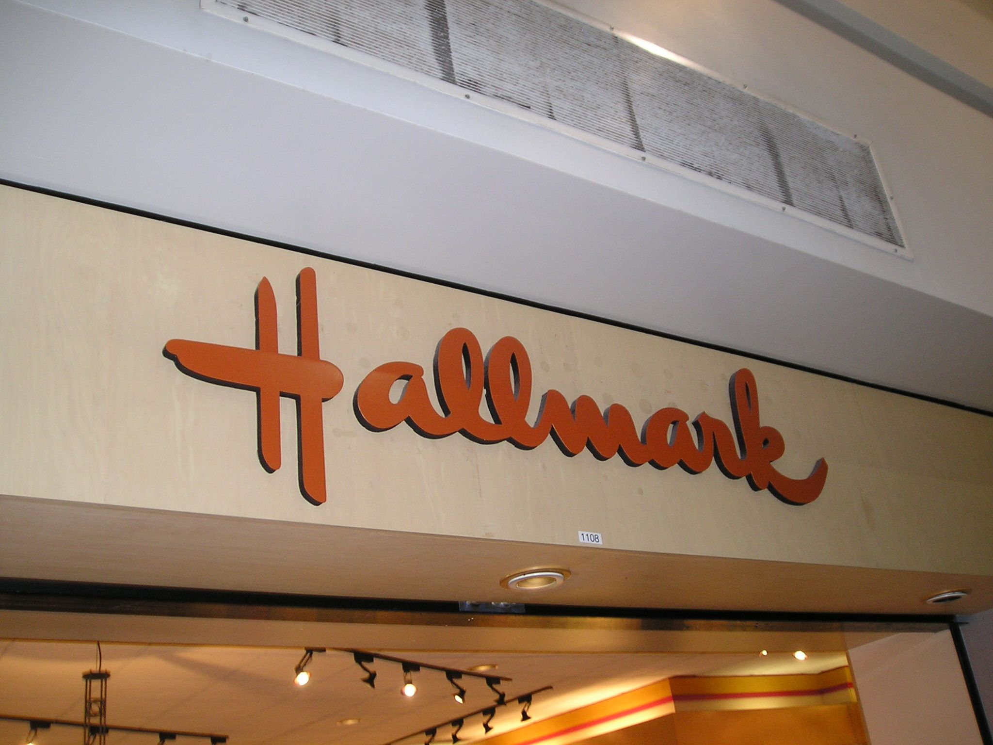 SA28344 - Shopping Mall Halmark Sign with Raised Outline Letters