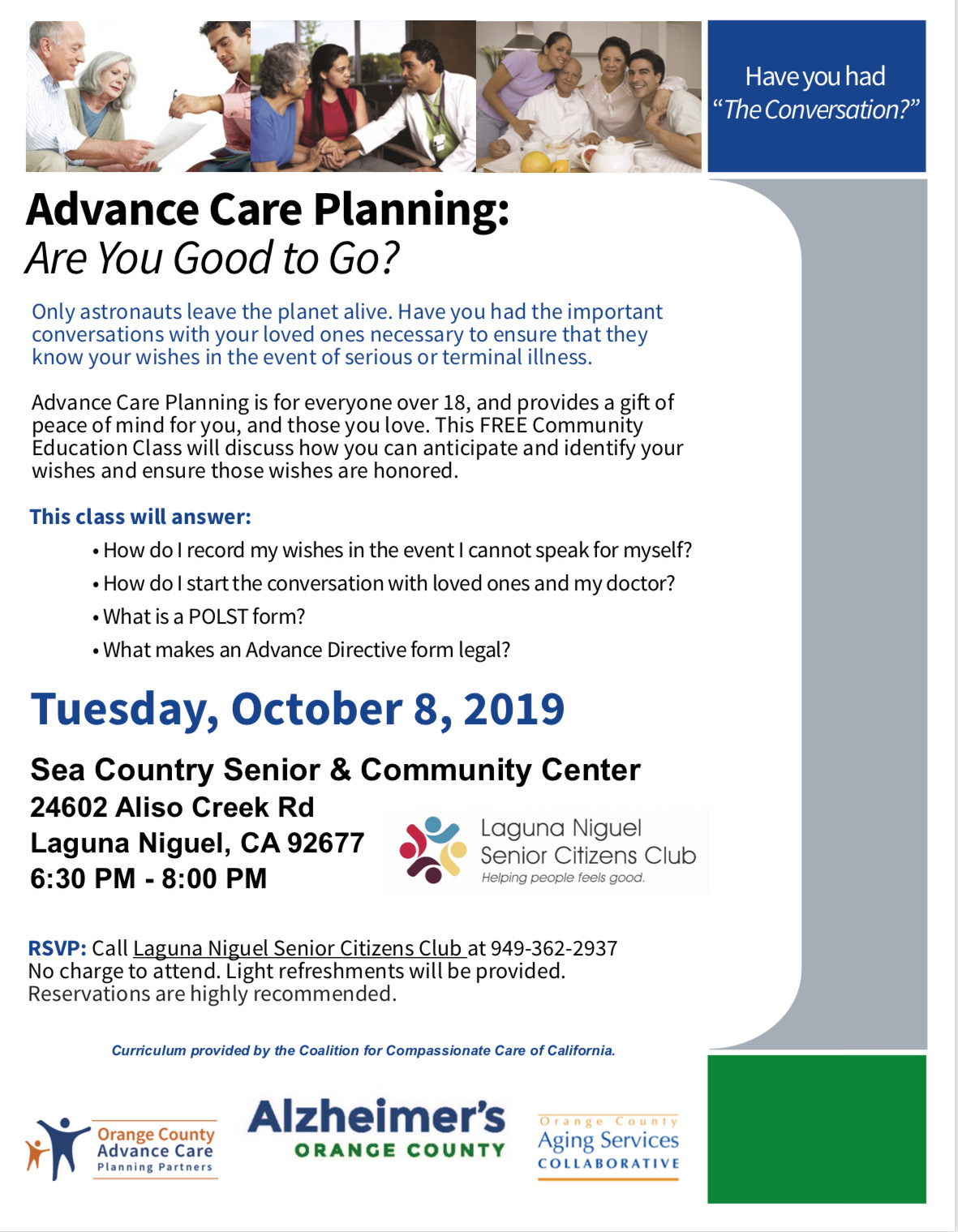 Advanced Care Planning Class