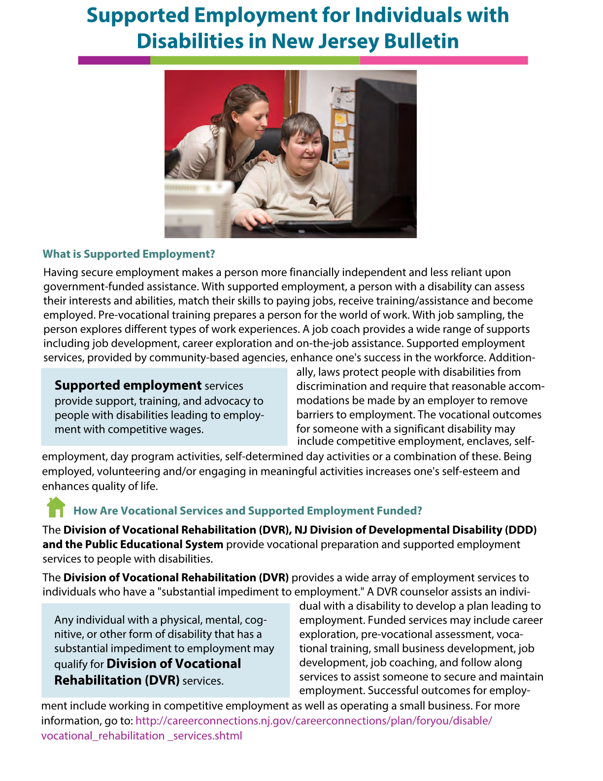 Supported Employment for Individuals with Disabilities in New Jersey