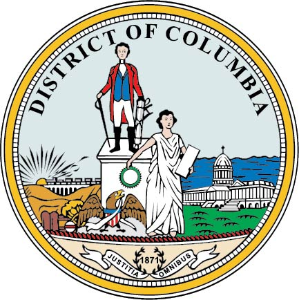 U30497 - District of Columbia Seal Carved Wooden Wall Plaque