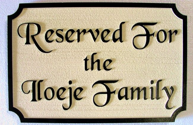 D13221 - Reserved Pew Plaque for Church