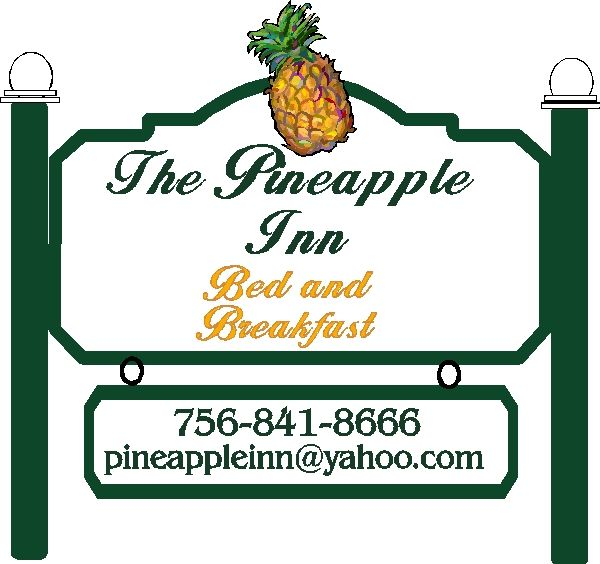 T29070- 3-D Post-and-Panel Sign for The Pineapple Inn